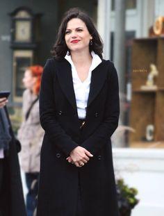 Lana Parrilla on set - October 22, 2014