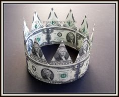 Money Crown is the best gift for a Groom on his wedding or engagement! Available upon request with any denomination of dollars. For price and ordering please text, message or call Margarita @ 818-903-2202