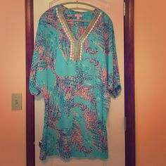 Lilly Pulitzer Dress The perfect Lilly beach cover up! 100% polyester and never been worn! Feel free to ask questions / make an offer! Most prices are negotiable :) Lilly Pulitzer Dresses