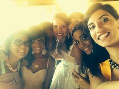 selfie with the bride friends