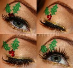 Christmas makeup- I wouldn't wear this, but it's cool!!