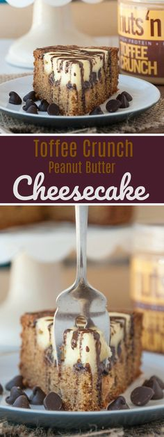 Toffee Crunch Peanut Butter Cheesecake - the spread - by nuts 'n more