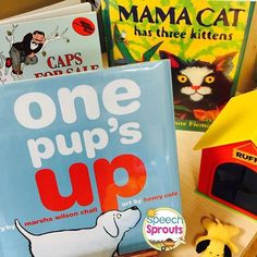 Great books for final /ps/ blend! Mama Cat has Three Kittens by Denise Fleming repeats naps, we all love  Caps For Sale and One Pup's Up is perfect too! Do you know any more?
