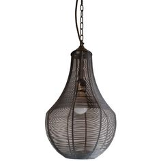 Dot & Bo Mesh Lighting Pendant ($149) ❤ liked on Polyvore featuring home, lighting and ceiling lights