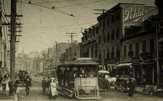 Montréal, vers 1900. Rue Saint-Laurent, depuis rue Sainte-Catherine >Nord. by DubyDub2009, via Flickr Old Montreal, Montreal Ville, Old Pictures, Old Photos, Rue Sainte Catherine, Tramway, Past Life, Urban Planning, Far Away