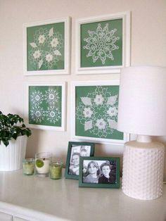 Doilies framed as art