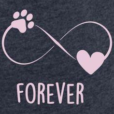 Forever - Pfote und Herz Katzen T-Shirts | Shirts und Geschenke für Katzenfreunde