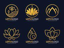 Gold Lotus Logo Stock Images - Image: 27062504