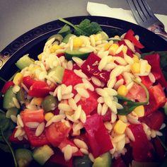 Lunch time! @12WBT Risoni Pasta Salad #happytummy