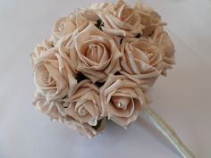 Wedding bouquet with diamante. Also available in other colours and designs. Can be personalised, please get in touch.