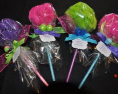 Pencil Bath Puff Lollipop Girls Spa Party Favor