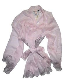 13d8202b04 Victorias Secret Lace Trimmed Long Sleeves Lace Mesh Robe Pink One Size Fit  All -- Click for Special Deals  VictoriasSleepwear
