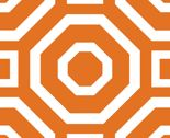 Geometry White on Tangerine by alicia_vance