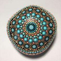 Hand Painted Mandala Stone, Mandala Meditation Stone, Dot Art Stone, Healing Stone, #417 by MafaStones on Etsy