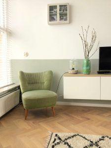 Harderwijkshuisje: binnenkijken in een groen Scandinavisch interieur Scandinavian Interior Design, Next At Home, Living Room, Modern, House, Gym, Inspiration, Home Decor, Style
