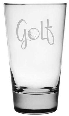 Golf Highball Glasses - Set of 4