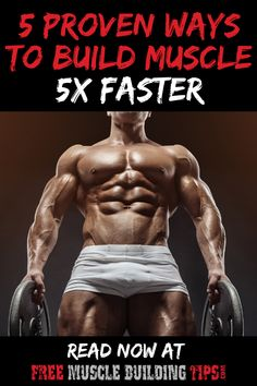 How to build muscle faster. Build muscle with these 5 proven methods to get faster results increasing muscle and strength. How to build muscle faster. Build muscle with these 5 proven methods to get faster results increasing muscle and strength. Bicep Muscle, Muscle Up, Gain Muscle, Polymetric Workout, Biceps Workout, Gym Workouts, Best Muscle Building Workout, Muscle Building Workouts, Gym Workout For Beginners