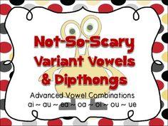 Task Cards for reading special vowel sounds (variant vowels/vowel teams)
