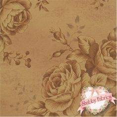 "Antique Flower 30449-11 by Lecien: This beautiful fabric is from the Antique Flower collection by Lecien.  100% cotton, 44""/45"" wide.  This fabric features a two-tone rose bouquet design."