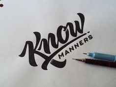 Know Manners Sketch