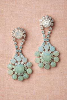 Something Blue vintage-inspired wedding earrings