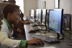 This young learner was all smiles as she brought her ideas to life using Tiinkercad at the Vision Afrika Tech Day