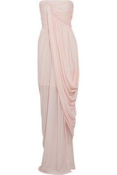 colorete con mujer efecto Vestido Sophia de de crepé drapeado drapeado Kokosalaki qCFUTg