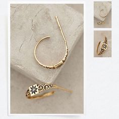 Alannah baby ring hoops at @anthropologie by Workhorse Jewelry