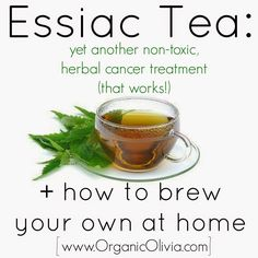 ***NOTE: ANYONE can take and benefit from Essiac tea. You do not have to have cancer to use this traditional, medicinal tea. It cleans your blood, purifies your organs, prevents cancer, boosts your... Healing Herbs, Herbal Remedies, Herbalism, Medicine, Cancer, Tea, High Tea, Medicinal Plants, Teas