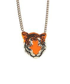 Tiger Necklace - Orange