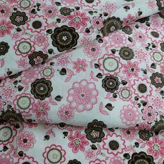 """velours 1000 raies - imprimé  de fleuri """"liberty Lauren"""" sur fond blanc"""