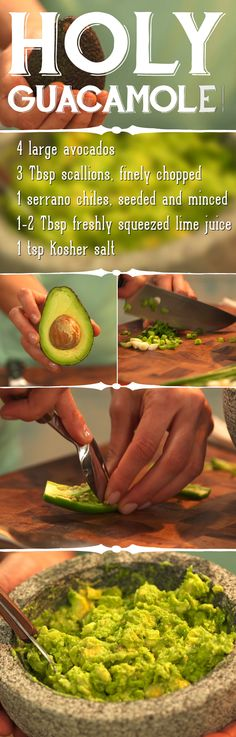 Your one minute, one second guide to making #guacamole. (Double click image to see video). #Cooking101 #food