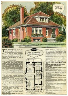 1000 images about historic floor plans on pinterest for Brick kit homes