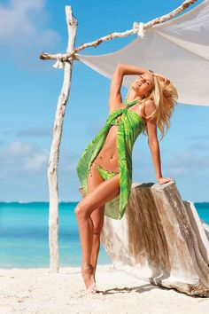 Clashing Print Beachwear  The Victoria's Secret 2012 Swimwear Catalog is Bold and Vibrant #victorissecret #swimwear #SS2012