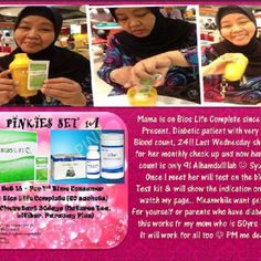 Do you of anyone facing diabetes? Share this testimony with them. Sharing is caring. :) Shared by Yani. Sharing By My Dear Mom ♥ Mum is the most difficult person to get to eat supplements and when her two dotters does Happy Life Project her Bios Life Complete was given to her for FREE by both of her dotters. She's on clearstart since Jan 2012 and start her Bios Life Complete.. Mum took 'on' & 'off'. Mum did say that 'like normal no difference lah'.. Lil sis who have actually monitoring mum's…