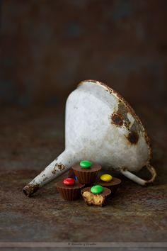 Kanela y Limón: Bombones de mantequilla de cacahuete y M&M's