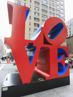 Photographic Print: The Pop Art Love Sculpture by Robert Indiana, Sixth Avenue, Manhattan by Amanda Hall : Fine Art Prints, Canvas Prints, Framed Prints, America Images, Public Art, Gifts In A Mug, Poster Size Prints, Fine Art Paper, 500 Piece Jigsaw Puzzles