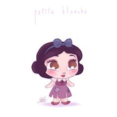 Petite Blanche by princekido on DeviantArt Kawaii Disney, Chibi Disney, Disney Rapunzel, Disney Princess, Princess Jasmine, Disney E Dreamworks, Disney Movies, Disney Pixar, Disney Characters