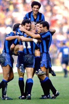 Karl-Heinz Rummenigge, Giuseppe Baresi and Giuseppe Bergomi (Inter Milan)