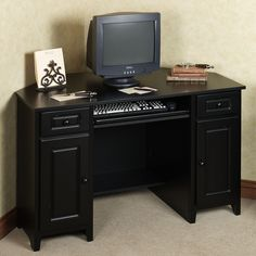 Corner Desk With Hutch Dark