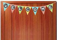 Two Magical Moms: Chevron Teacher Welcome Banner- FREE Printbale