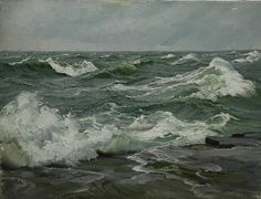 Stapleton Kearns: A seascape lesson, from Charles Vickery Acrylic Painting Lessons, Painting Process, Modern Art Paintings, Seascape Paintings, Landscape Art, Landscape Paintings, Stürmische See, Seaside Beach, Sea Waves
