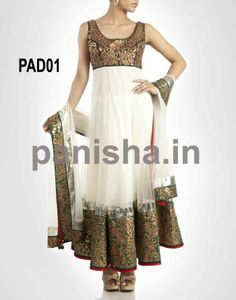 white net anarkali designed with hand work,.red cottan churidar and white net dupatta is available with this.