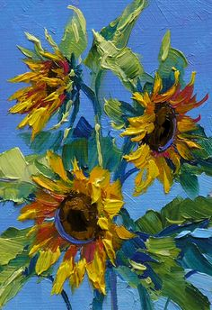 Sun's Caress blumen Don't you just love Sunflowers? They are so cheerful and happy, how can you not Sunflower Drawing, Sunflower Art, Sunflower Paintings, Paintings Of Sunflowers, Van Gogh Sunflowers, Degas Paintings, Impressionist Paintings, Oil Painting Flowers, Bee Painting