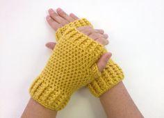 Crochet Fingerless Mittens Wrist Warmers Gloves in by SalemStyle