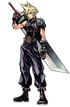 Cloud Strife (Final Fantasy VII). Mercenario.    http://es.wikipedia.org/wiki/Cloud_Strife