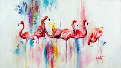 Katy Jade Dobson 'Flamboyance' Oil Painting - The Spectrum Collection