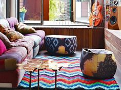 If the summer heat is sapping your home's energy, we think it's time to let the colour and life in! Revamp your home with all things bright and sunny and watch your space come alive. From patchwork curtains to bohemian sofas, here are some uber cool finds for your living room.Image courtesy: Sulia.com via Pinterest