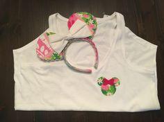 DIY Minnie Ears & Shirt #lillypulitzer #lillyears