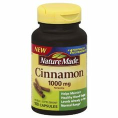 Nature Made Cinnamon Capsules 1000 Mg, 100 Count by Nature Made. $7.89.   I take this x3 daily! It's amazing for people with PCOS! It's also great for circulation.   (Can cause premature Labor if you're pregnant)